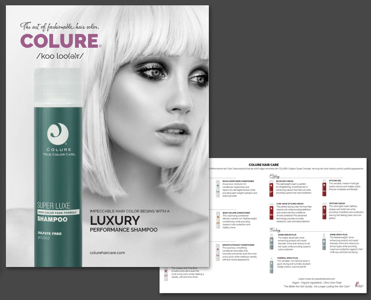 COLURE Hair Care Print Catalog