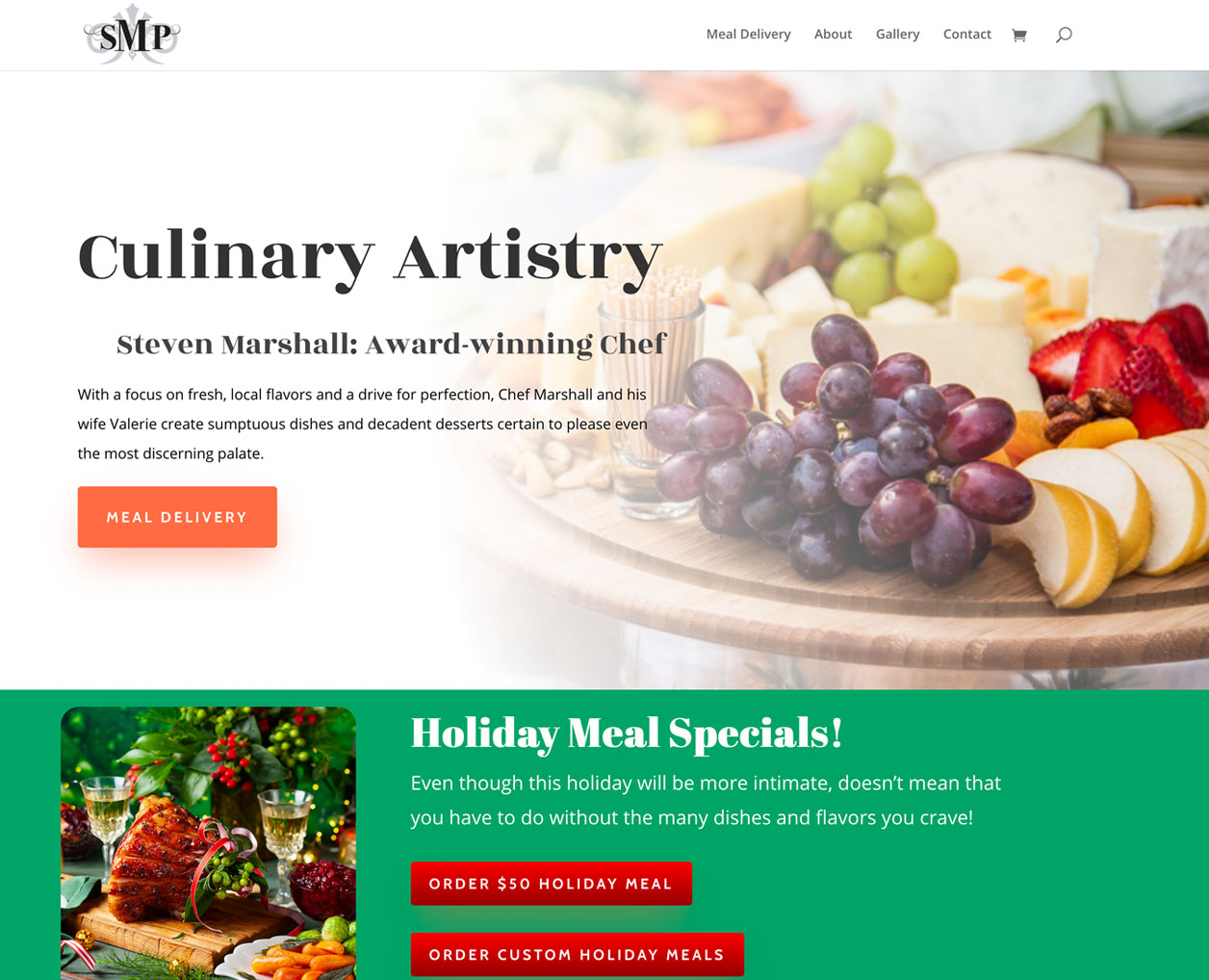 SMP Catering website