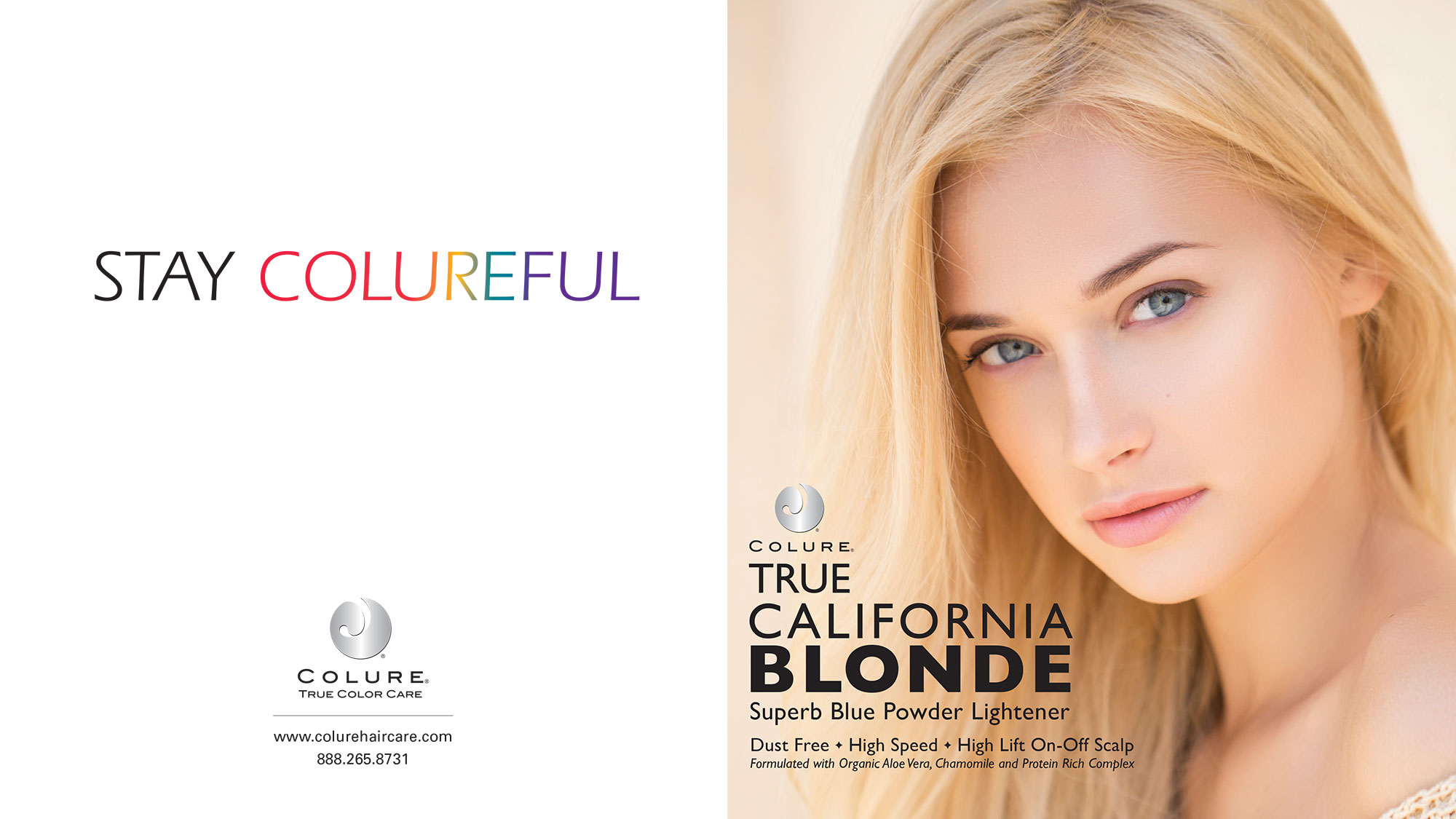 COLURE Blonde Brochure outside